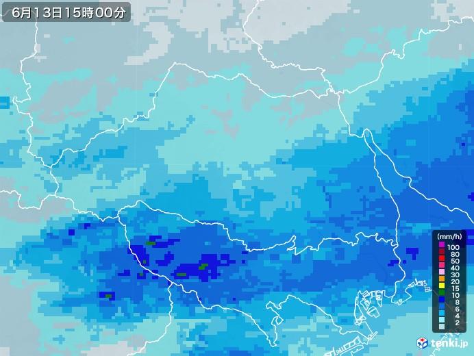 埼玉県の雨雲レーダー(2020年06月13日)