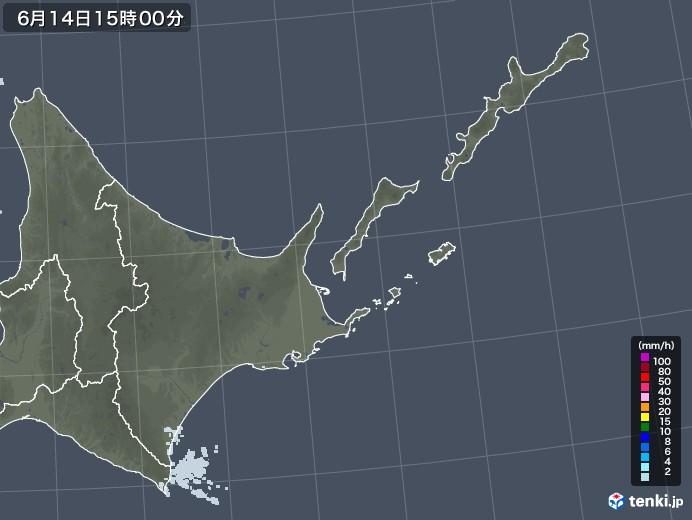 道東の雨雲レーダー(2020年06月14日)