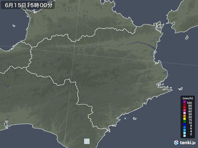 徳島県の雨雲レーダー(2020年06月15日)