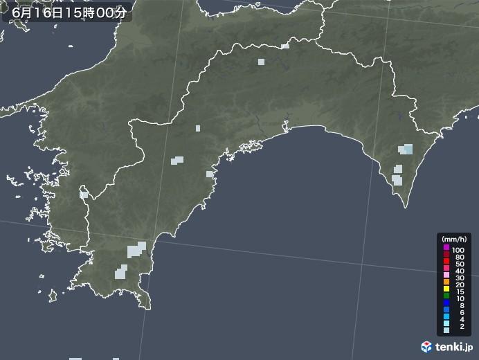 高知県の雨雲レーダー(2020年06月16日)