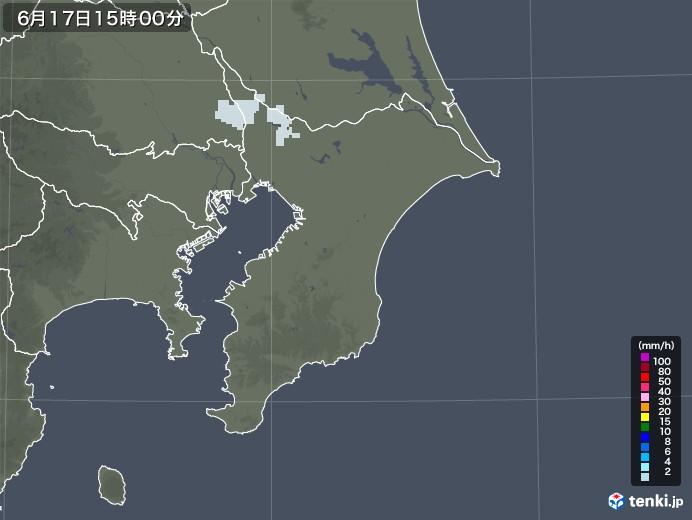 千葉県の雨雲レーダー(2020年06月17日)