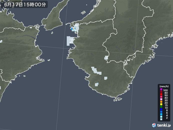 和歌山県の雨雲レーダー(2020年06月17日)