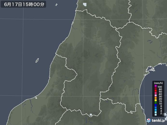 山形県の雨雲レーダー(2020年06月17日)