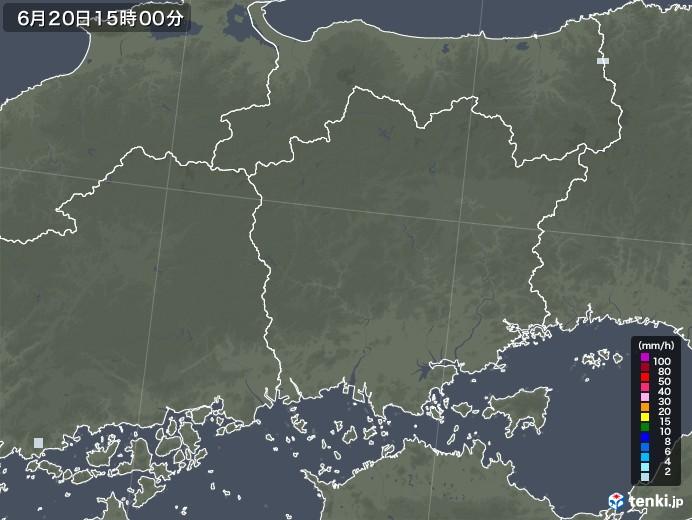 岡山県の雨雲レーダー(2020年06月20日)