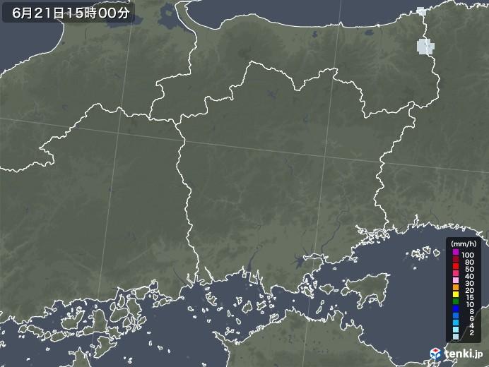 岡山県の雨雲レーダー(2020年06月21日)