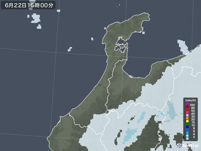 石川県の雨雲レーダー(2020年06月22日)