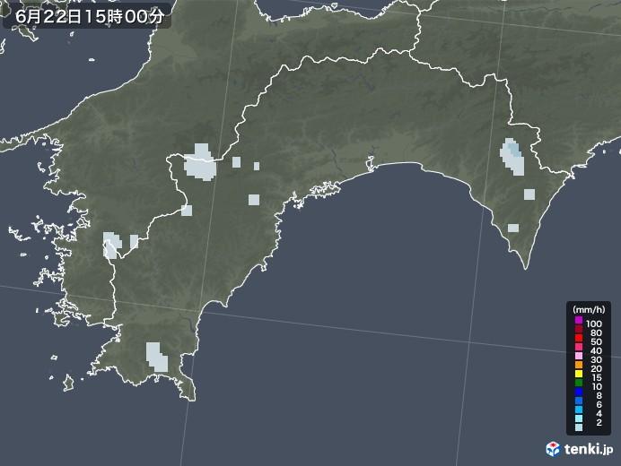 高知県の雨雲レーダー(2020年06月22日)
