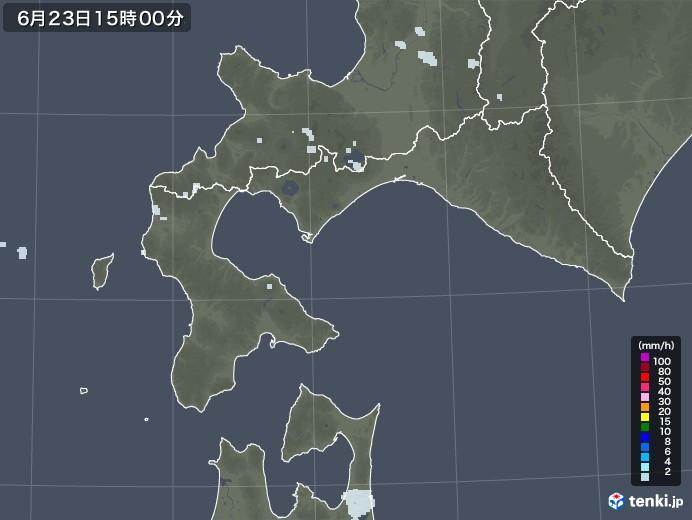 道南の雨雲レーダー(2020年06月23日)