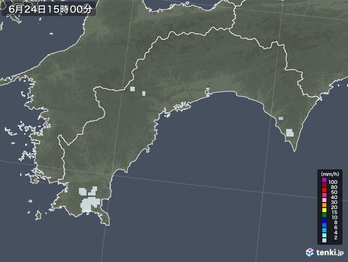 高知県の雨雲レーダー(2020年06月24日)