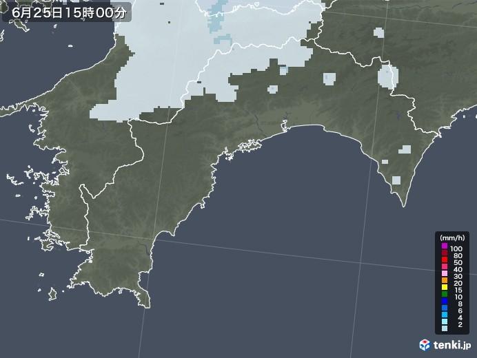 高知県の雨雲レーダー(2020年06月25日)