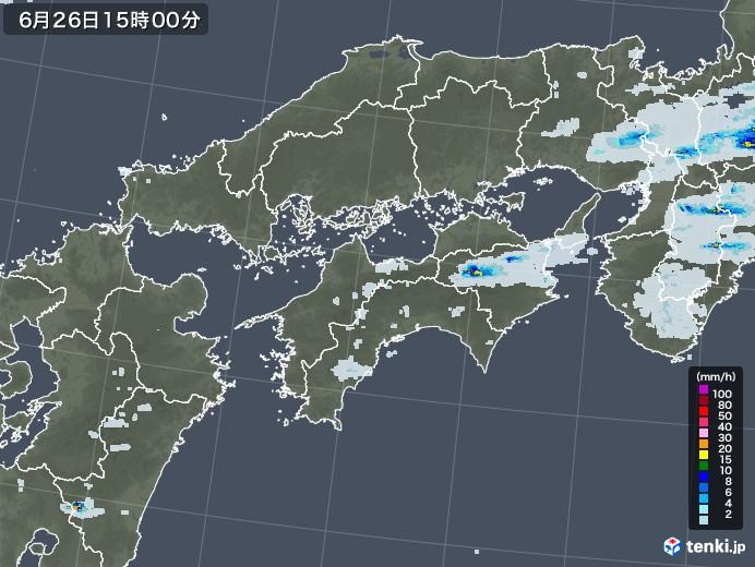 四国地方の雨雲レーダー(2020年06月26日)