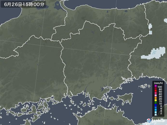 岡山県の雨雲レーダー(2020年06月26日)