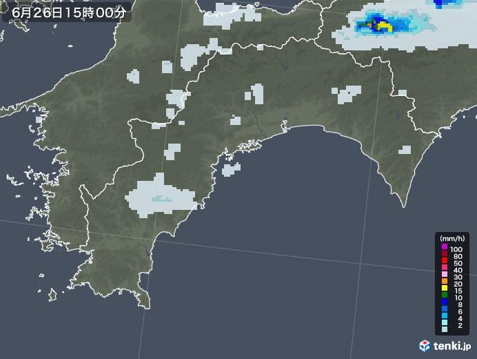 高知県の雨雲レーダー(2020年06月26日)
