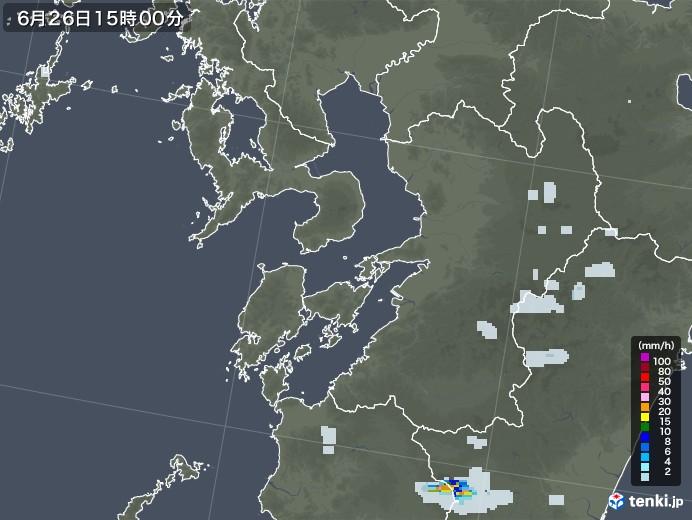熊本県の雨雲レーダー(2020年06月26日)