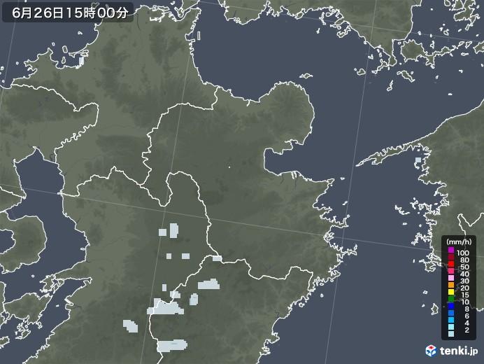 大分県の雨雲レーダー(2020年06月26日)
