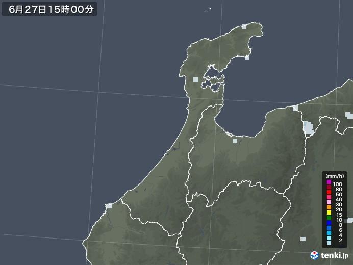 石川県の雨雲レーダー(2020年06月27日)