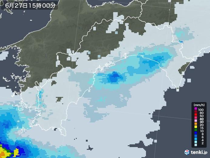 高知県の雨雲レーダー(2020年06月27日)