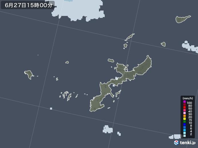 沖縄県の雨雲レーダー(2020年06月27日)