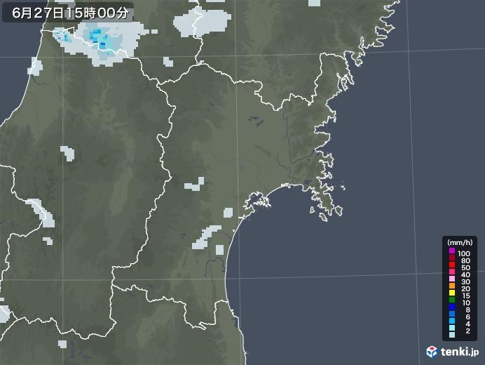 宮城県の雨雲レーダー(2020年06月27日)