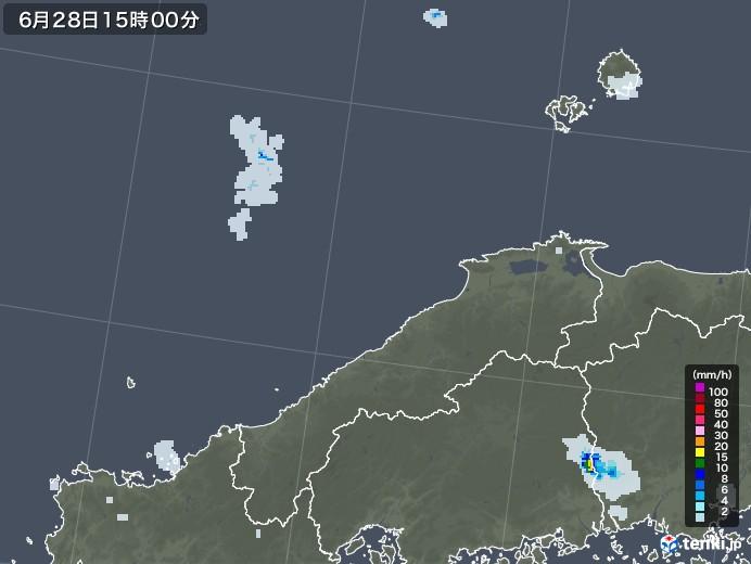 島根県の雨雲レーダー(2020年06月28日)