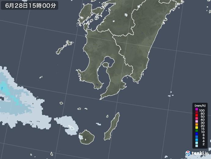 鹿児島県の雨雲レーダー(2020年06月28日)