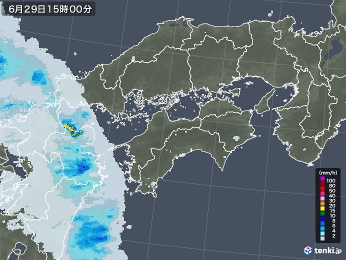 四国地方の雨雲レーダー(2020年06月29日)
