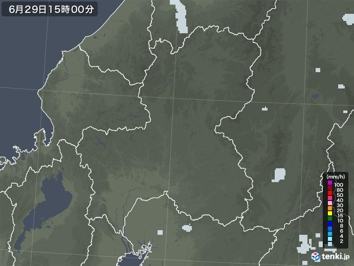 岐阜県の雨雲レーダー(2020年06月29日)