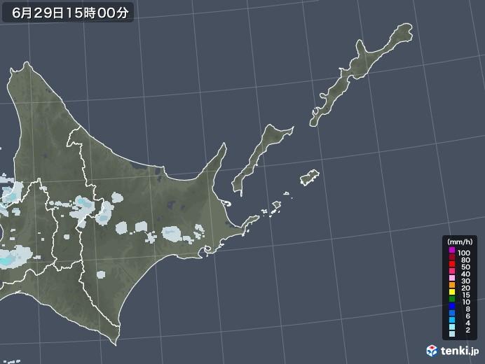 道東の雨雲レーダー(2020年06月29日)