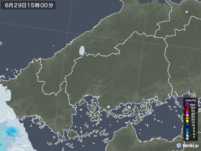 広島県の雨雲レーダー(2020年06月29日)