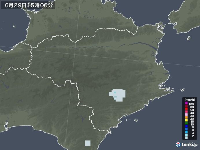 徳島県の雨雲レーダー(2020年06月29日)