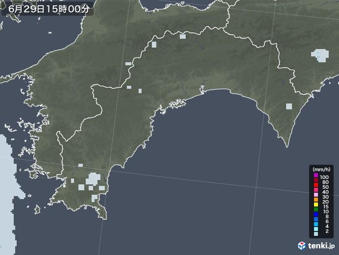 高知県の雨雲レーダー(2020年06月29日)