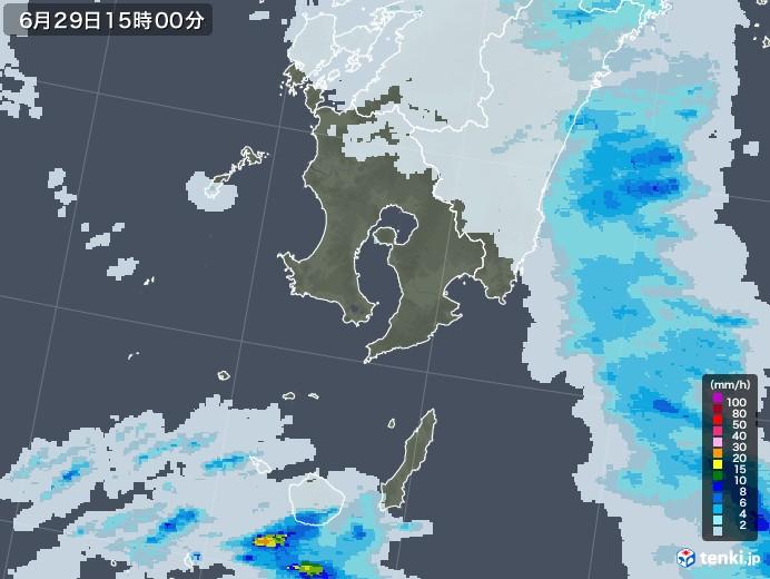 鹿児島県の雨雲レーダー(2020年06月29日)