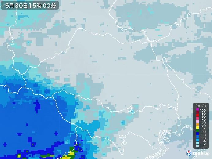 埼玉県の雨雲レーダー(2020年06月30日)