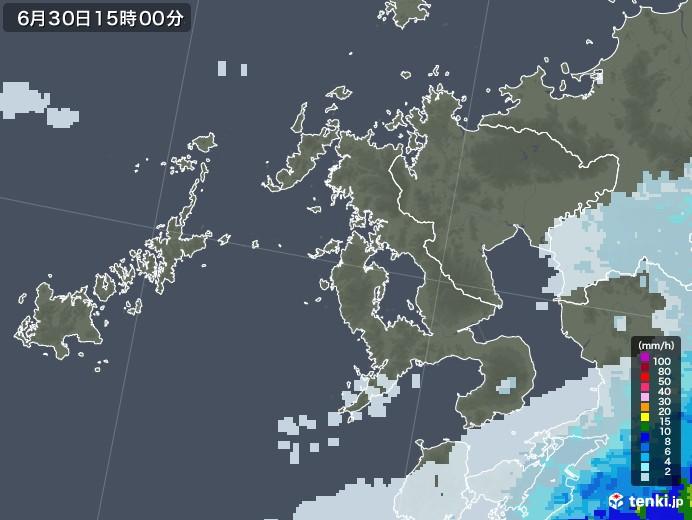 長崎県の雨雲レーダー(2020年06月30日)