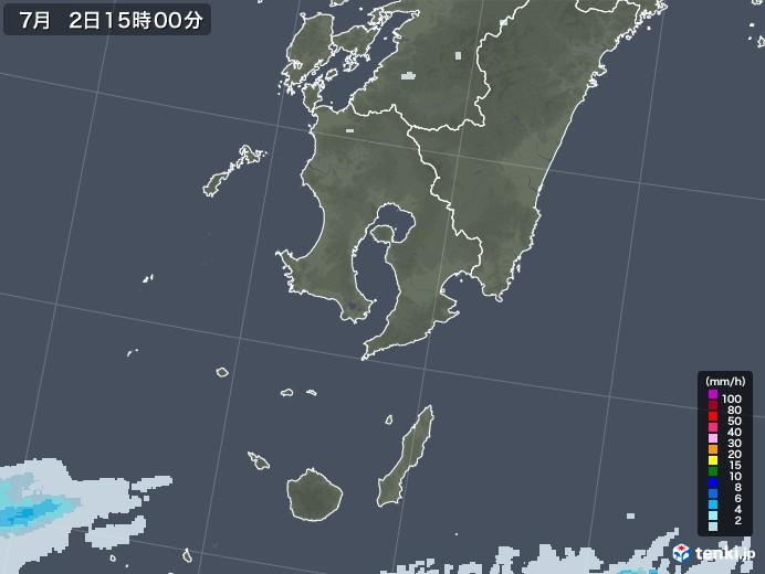 鹿児島県の雨雲レーダー(2020年07月02日)