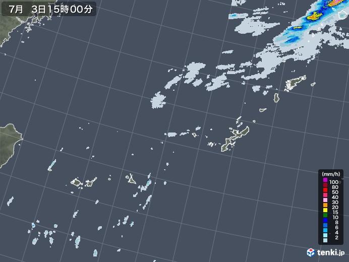 沖縄地方の雨雲レーダー(2020年07月03日)