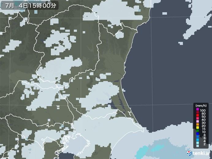 茨城県の雨雲レーダー(2020年07月04日)