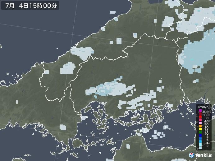 広島県の雨雲レーダー(2020年07月04日)