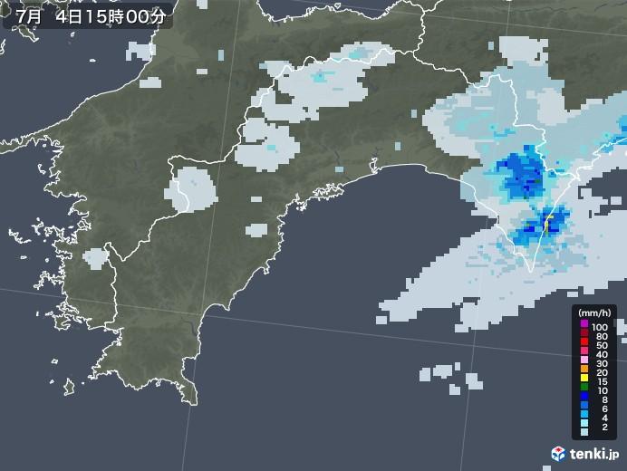 高知県の雨雲レーダー(2020年07月04日)