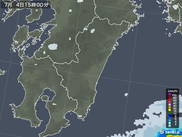 宮崎県の雨雲レーダー(2020年07月04日)