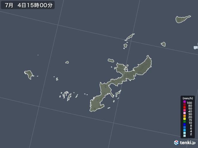 沖縄県の雨雲レーダー(2020年07月04日)