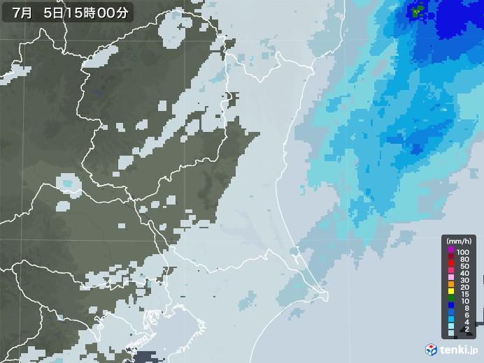 茨城県の雨雲レーダー(2020年07月05日)