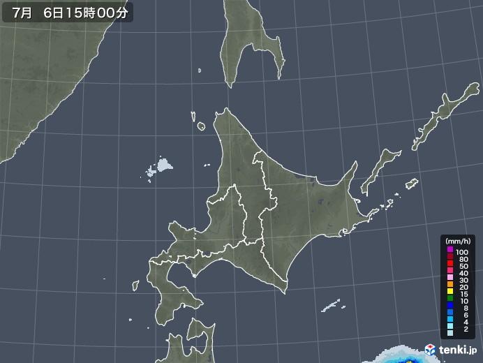 北海道地方の雨雲レーダー(2020年07月06日)