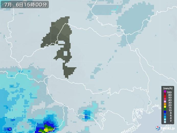 埼玉県の雨雲レーダー(2020年07月06日)