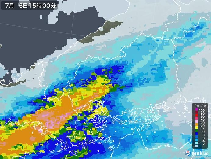 雨雲 天気 広島 東 レーダー 市