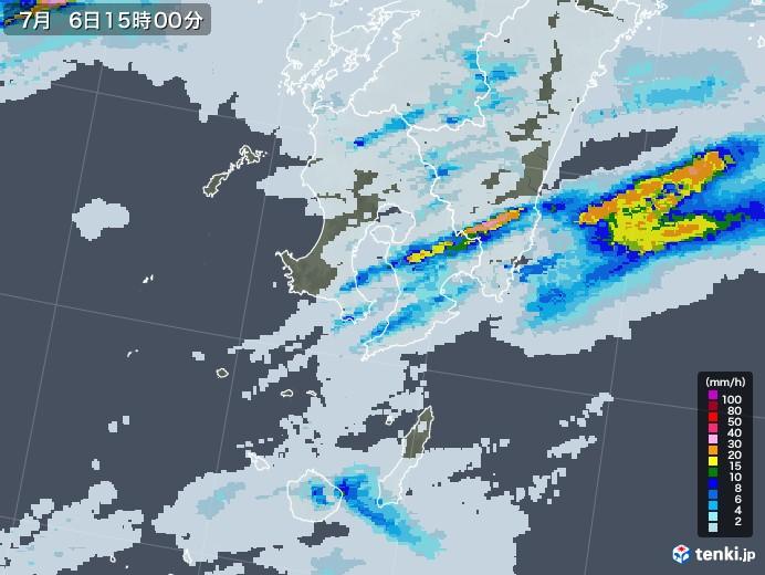 鹿児島県の雨雲レーダー(2020年07月06日)