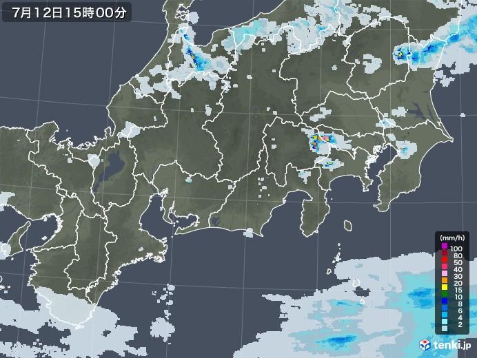 過去 雨雲レーダー
