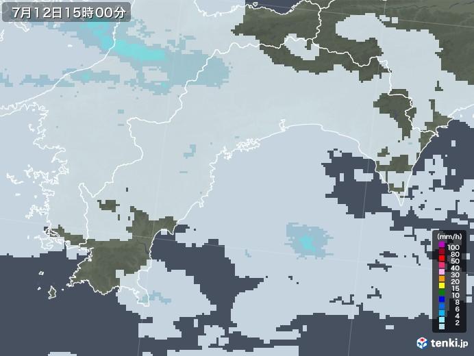 高知県の雨雲レーダー(2020年07月12日)