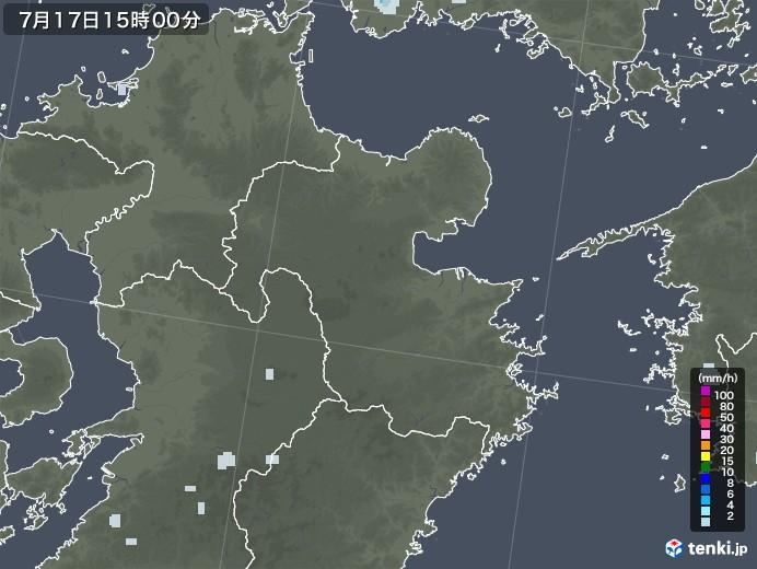 大分県の雨雲レーダー(2020年07月17日)