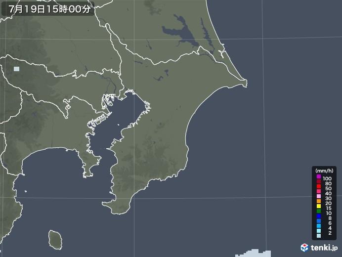 千葉県の雨雲レーダー(2020年07月19日)